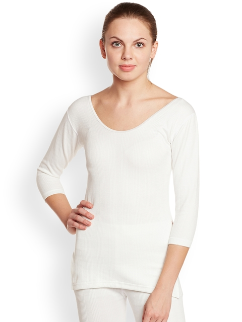 VIMAL White Solid Thermal Top