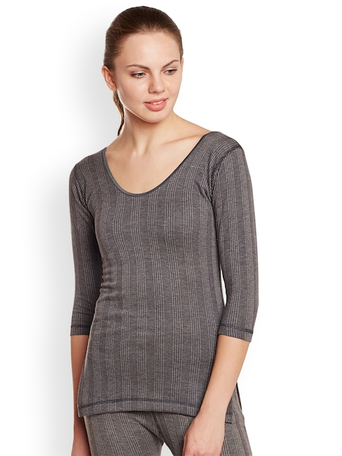 VIMAL Grey Solid Thermal Top