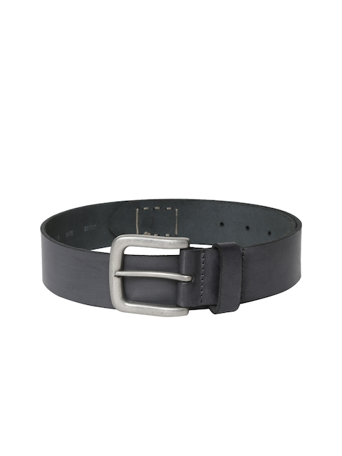 Levis Men Grey Solid Leather Belt