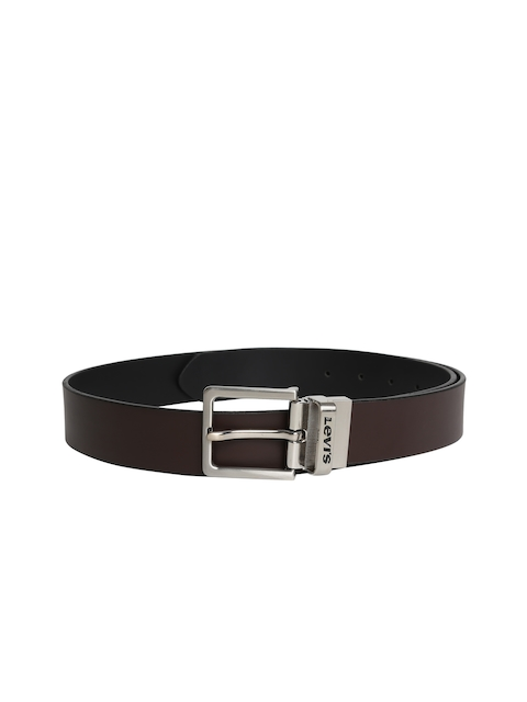 Levis Men Brown & Black Reversible Leather Belt