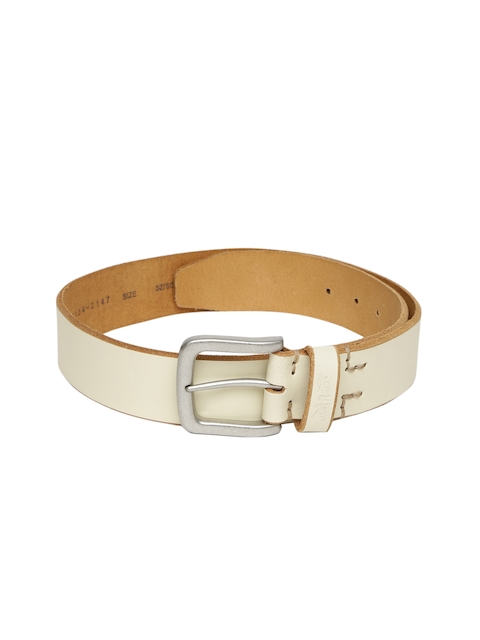 Levis Men Off-White Solid Belt