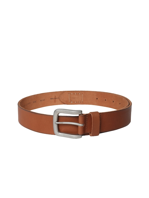 Levis Men Brown Solid Leather Belt