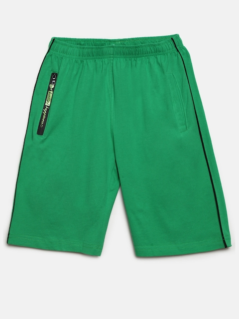 SDL by Sweet Dreams Boys Green Solid Lounge Shorts BS-5950G7