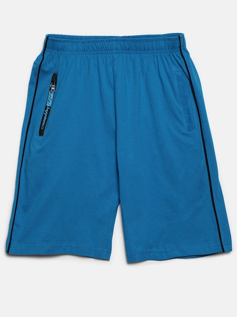 SDL by Sweet Dreams Boys Blue Solid Lounge Shorts BS-5950G7