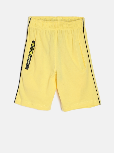 SDL by Sweet Dreams Boys Yellow Lounge Shorts BS-5950G7