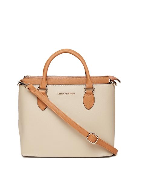 Lisa Haydon for Lino Perros Beige Solid Handheld Bag