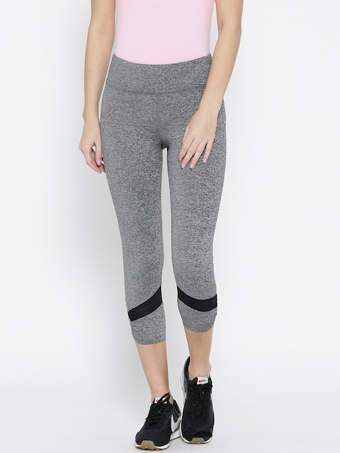 FOREVER 21 Grey Grindle Effect Tights