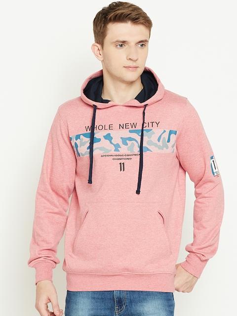 Monte Carlo Men Pink Printed Hooded Sweatshirt