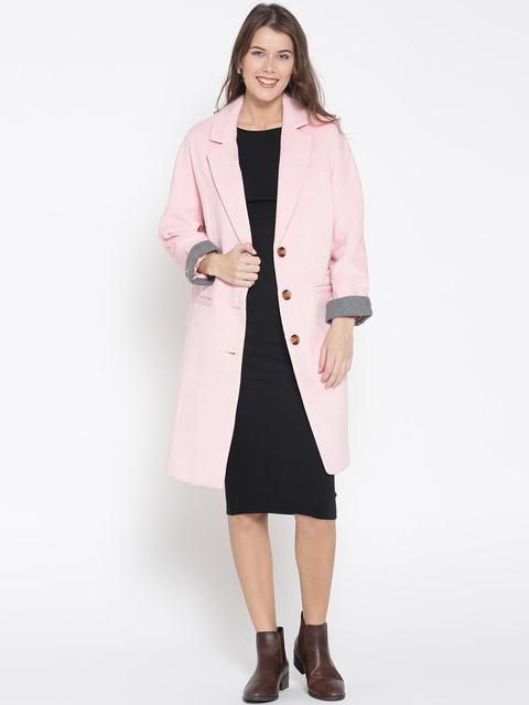 FOREVER 21 Pink Longline Coat