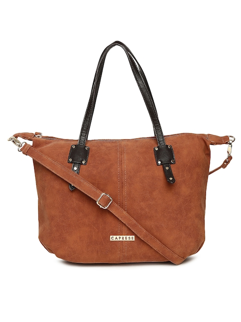 Caprese Brown Solid Shoulder Bag  available at myntra for Rs.1439