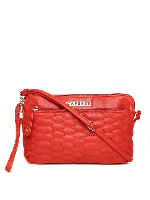 Caprese Red Solid Sling Bag