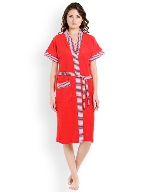 Sand Dune Women Red Bathrobe