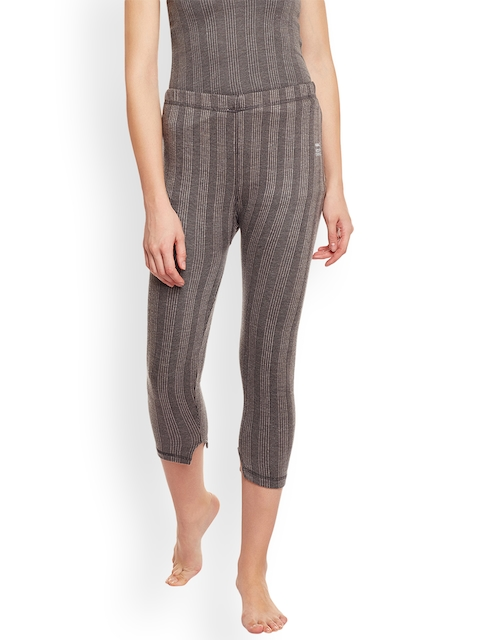 VIMAL Women Grey Self Design Thermal Leggings