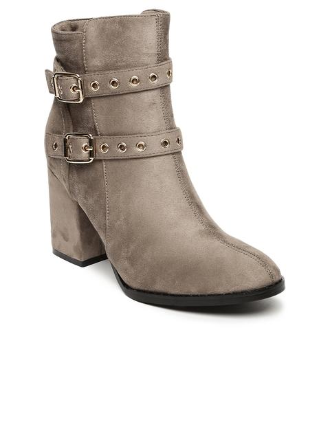 Tresmode Women Beige Heeled Boots
