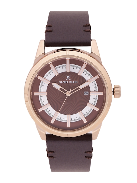 Daniel Klein Premium Men Brown & Silver-Toned Analogue Watch DK11476-2