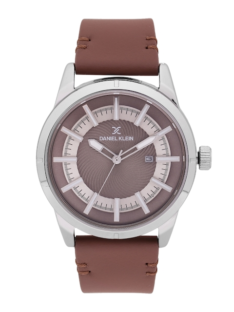 Daniel Klein Premium Men Brown & Silver-Toned Analogue Watch DK11476-7