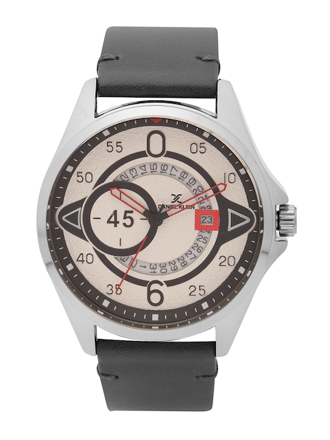 Daniel Klein Men Off-White Analogue Watch DK11485-3