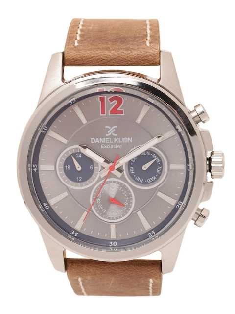 Daniel Klein Men Gunmetal-Toned Analogue Watch DK11482-4