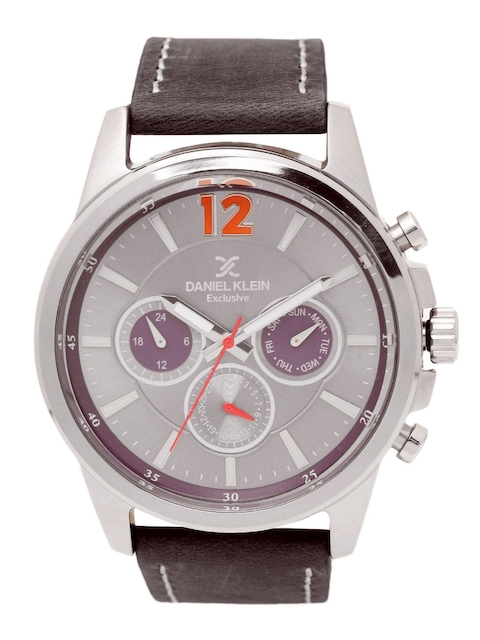 Daniel Klein Men Silver-Toned Analogue Watch DK11482-5