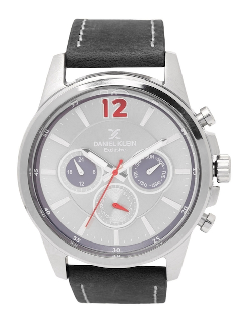 Daniel Klein Men Silver-Toned Analogue Watch DK11482-6