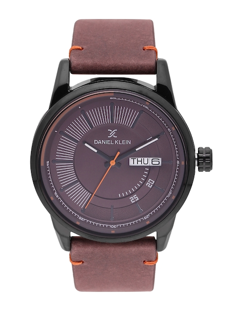 Daniel Klein Men Coffee Brown Analogue Watch DK11493-5