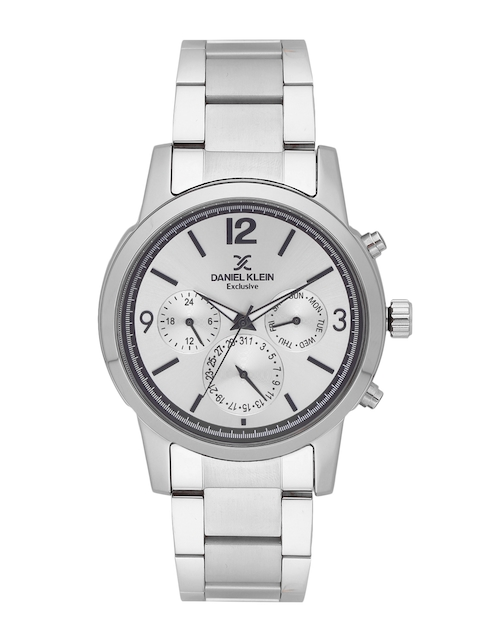 Daniel Klein Men Silver-Toned Analogue Watch DK11578-1