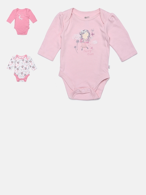 MINI KLUB Girls Pack of 3 Printed Bodysuits