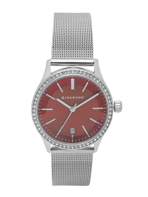 GIORDANO Women Red Analogue Watch 2847-22