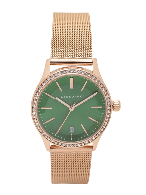 GIORDANO Women Green Analogue Watch 2847-55