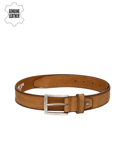 U.S. Polo Assn. Men Tan Leather Solid Belt