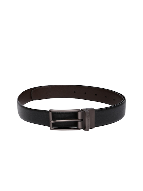 U.S. Polo Assn. Men Black & Brown Solid Leather Reversible Belt