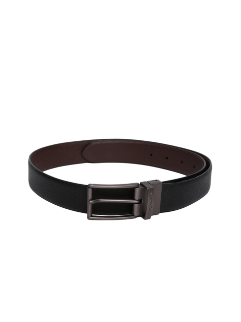 U.S. Polo Assn. Men Brown & Black Solid Leather Reversible Belt