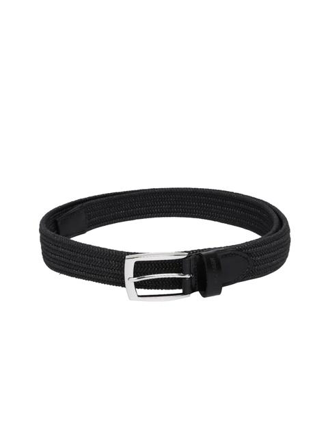 U.S. Polo Assn. Men Black Woven Design Belt