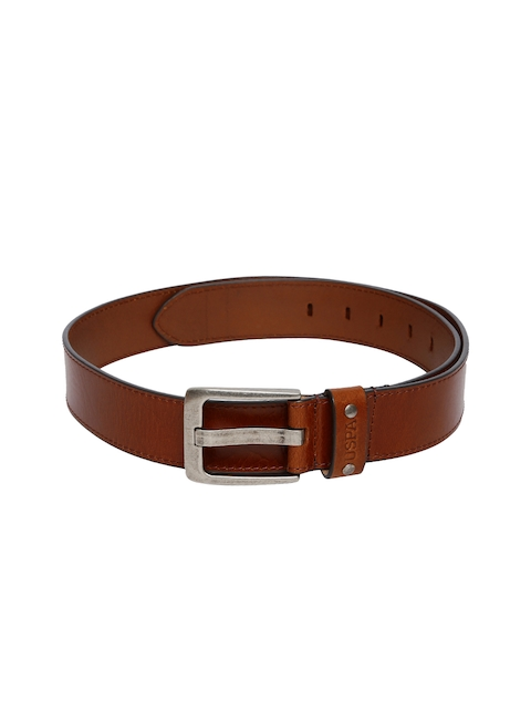 U.S. Polo Assn. Men Tan Brown Leather Belt