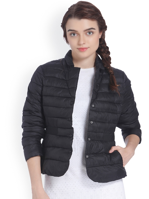 Vero Moda Women Black Solid Puffer Jacket