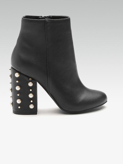 DOROTHY PERKINS Women Black Embellished Heeled Boots