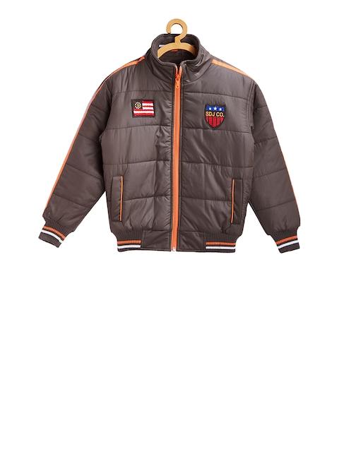 Duke Boys Olive Green Solid Padded Jacket