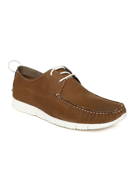 Bata Men Brown Boat Shoes