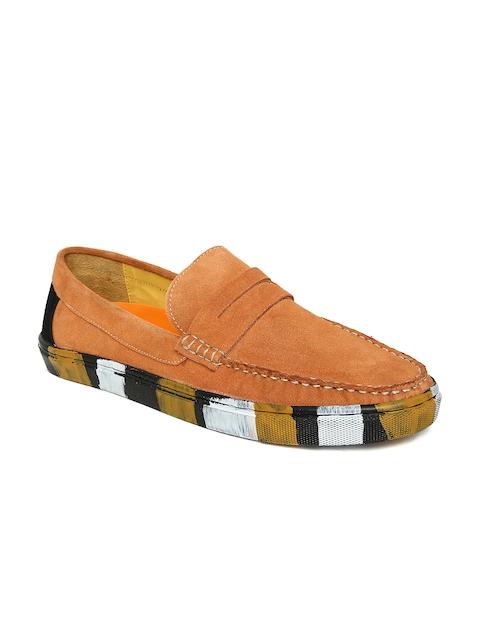Bata Men Orange Loafers