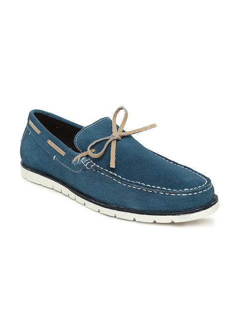 Bata Men Blue Loafers