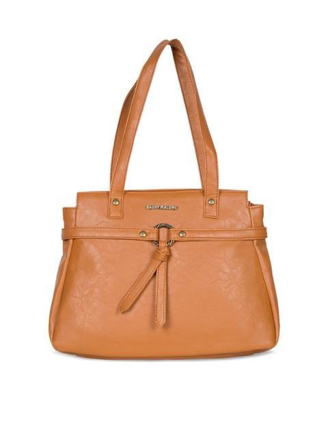 Bagsy Malone Tan Brown Solid Shoulder Bag