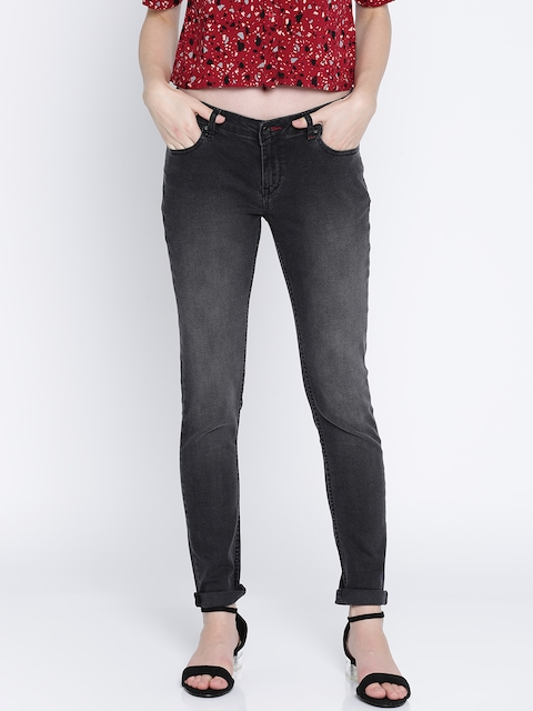 Lee Cooper Women Black Alexi Skinny Fit Low-Rise Clean Look Stretchable Jeans