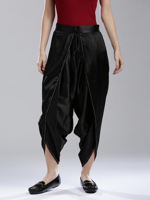 W Black Dhoti Pants