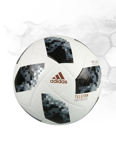 ADIDAS Men Off-White & Black World Cup Top Glider Printed Football