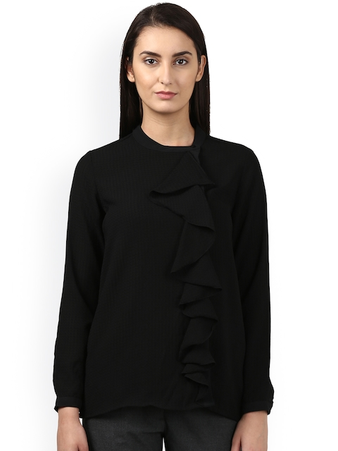 Park Avenue Women Black Solid Top
