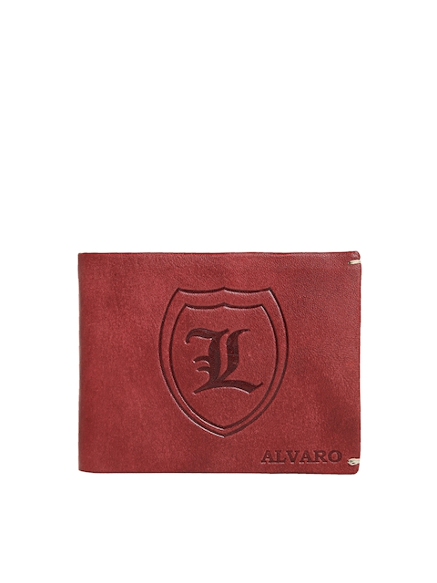 Alvaro Castagnino Men Maroon Solid Leather Two Fold Wallet