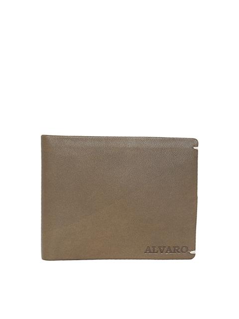 Alvaro Castagnino Men Brown Solid Leather Two Fold Wallet