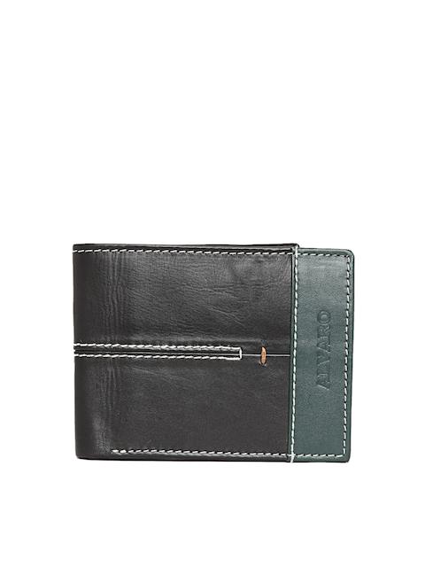 Alvaro Castagnino Men Black Solid Leather Two Fold Wallet
