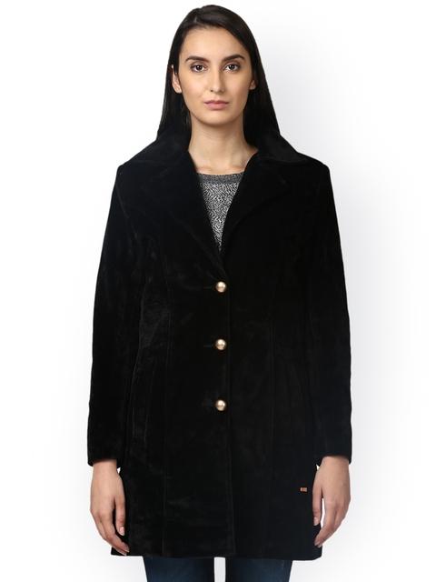 Park Avenue Women Black Solid Tailored Jacket
