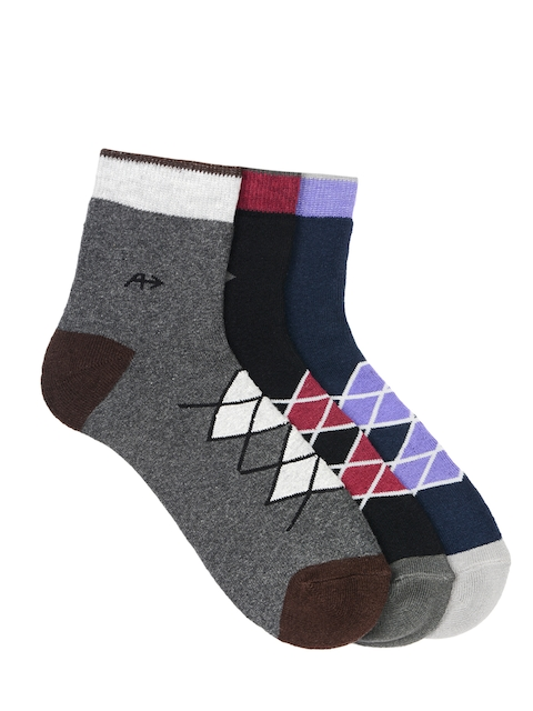 Arrow Men Pack of 3 Formal Calf-length Patterned Socks